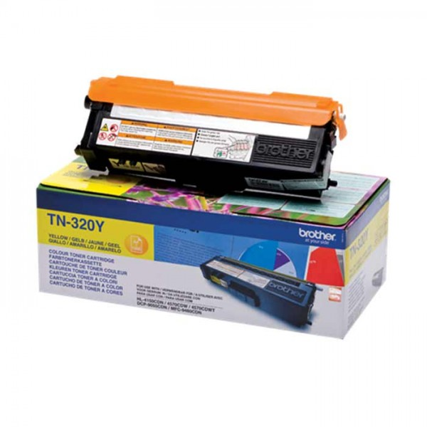Original Brother Toner TN-320Y yellow - C-Ware