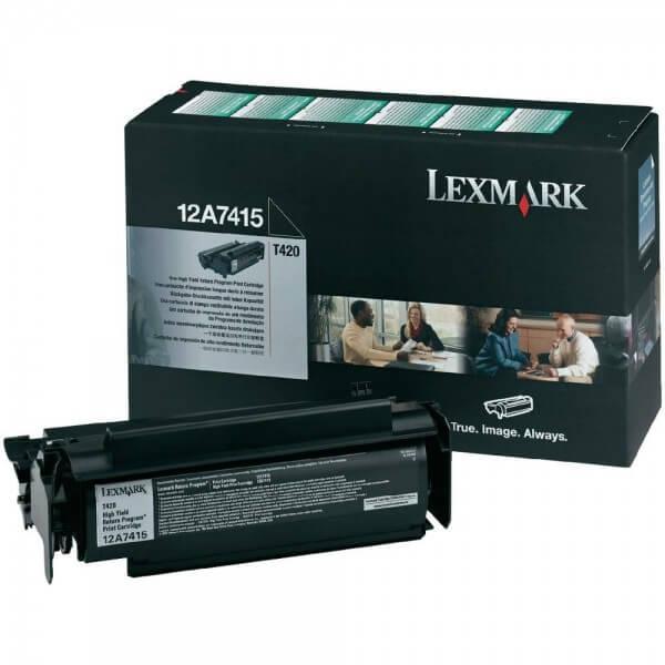 Original Lexmark Toner 12A7415 black - Neu & OVP