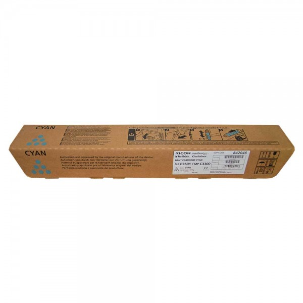 Original Ricoh MP C3501 Toner 842046 cyan - Neu & OVP