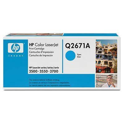 HP Color Laserjet Toner Q2671A cyan