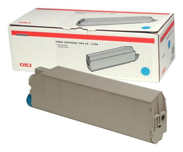 OKI Type C5 Toner 41963607 cyan - reduziert