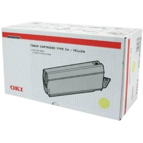 Original OKI Type C4 Toner 41963005 yellow - Neu & OVP