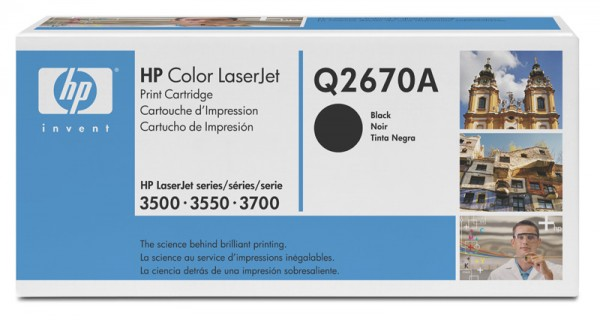 Original HP Color Laserjet Toner Q2670A black - Neu & OVP