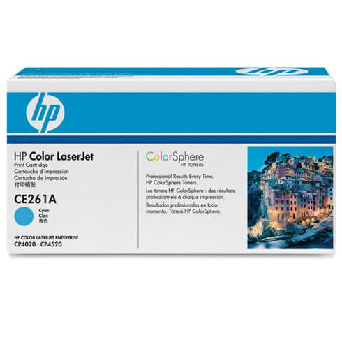Original HP Color Laserjet Toner CE261A cyan - reduziert