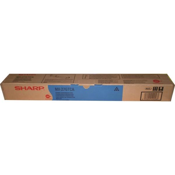 Original Sharp Toner MX-27GTCA cyan - reduziert