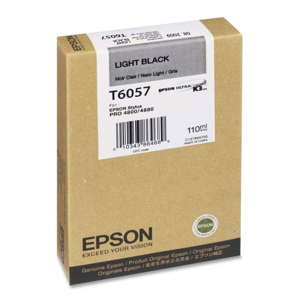 Epson T6057 Tinte C13T605700 light black