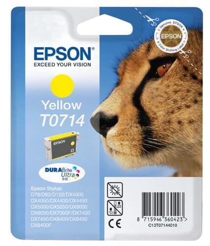 Epson T0714 Tinte C13T07144010 yellow