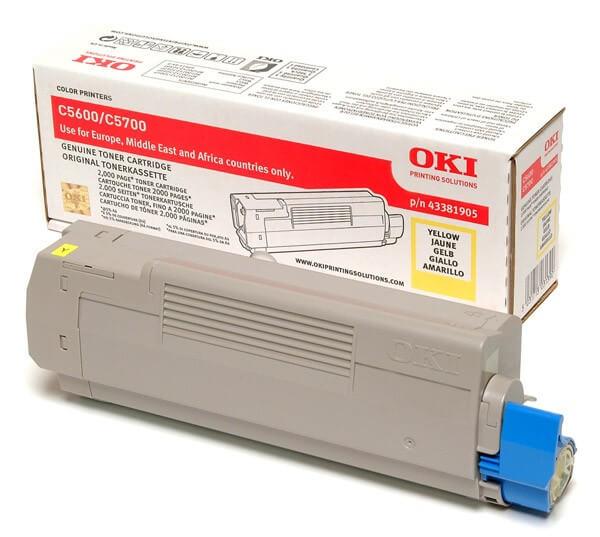 Original OKI Toner 43381905 yellow - Neu & OVP