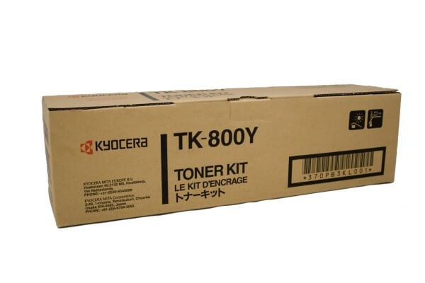 Original Kyocera Toner TK-800Y yellow - reduziert