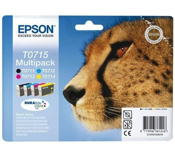 Original Epson T0715 Tinten Multipack C13T07154010 - Neu & OVP