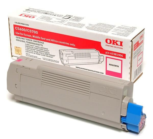 Original OKI Toner 43381906 magenta - Neu & OVP