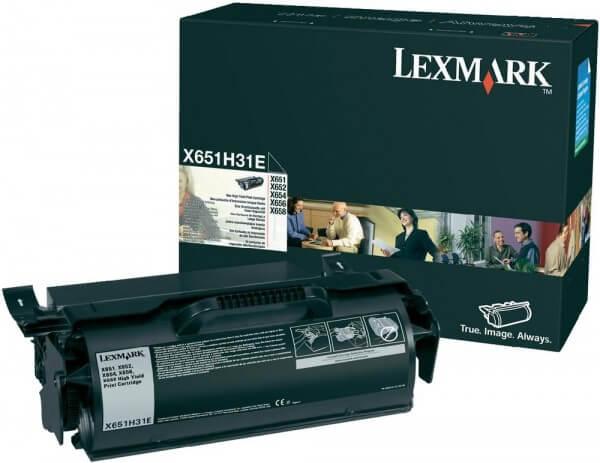 Lexmark Toner X651H31E black