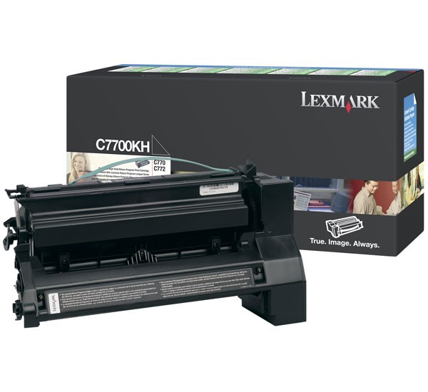 Original Lexmark Toner C7700KH black - Neu & OVP