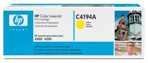 Original HP Color Laserjet Toner C4194A yellow - reduziert