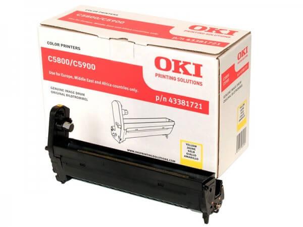 Original OKI Image Drum 43381721 yellow - reduziert