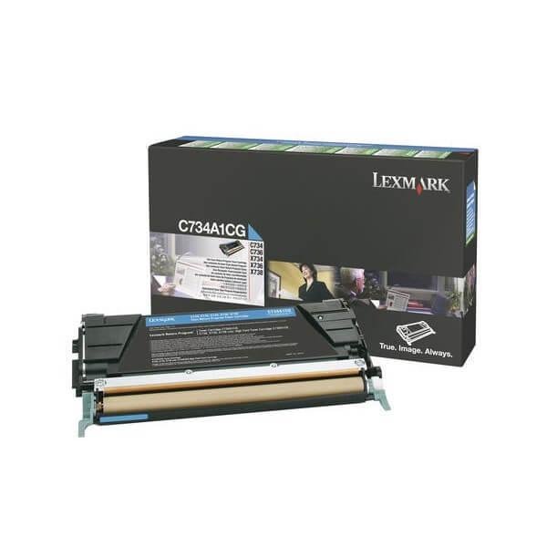 Lexmark Toner C734A1CG cyan - reduziert