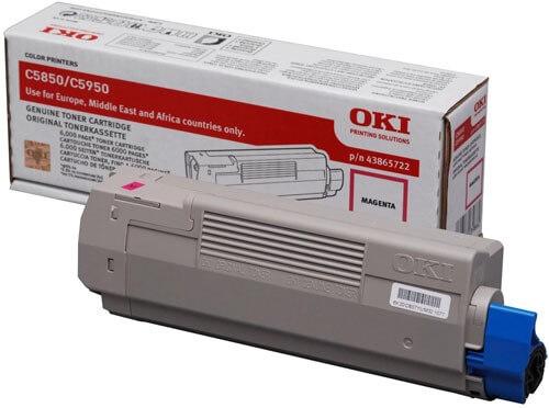 Original OKI Toner 43865722 magenta - Neu & OVP