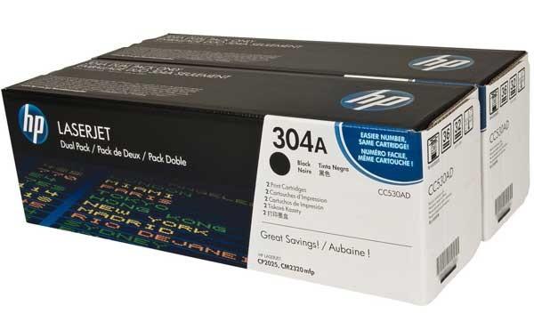 Original HP Toner Doppelpack CC530AD black - Neu & OVP
