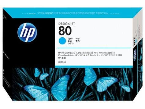 Original HP Tinte C4846A Nr. 80 cyan 350ml - Neu & OVP