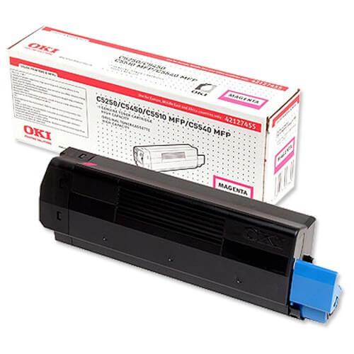 Original OKI Toner 42127455 magenta - reduziert
