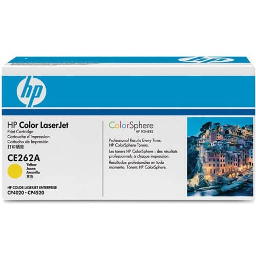 Original HP Color Laserjet Toner CE262A yellow - reduziert