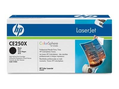 HP Color Laserjet Toner CE250X black - reduziert