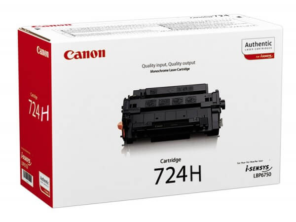 Original Canon 724H Toner 3482B002 black - Neu & OVP