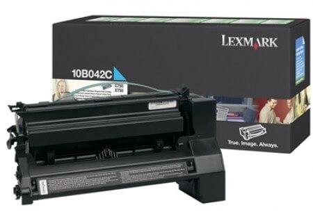 Original Lexmark Toner 10B042C cyan - reduziert