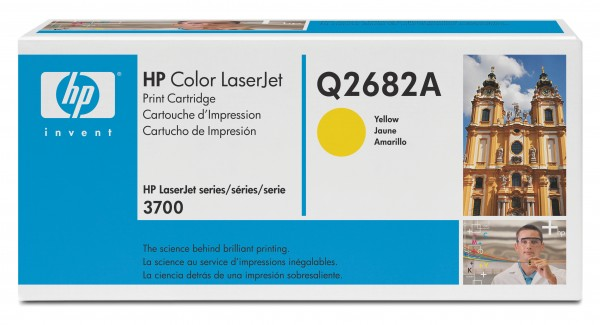 Original HP Color Laserjet Toner Q2682A yellow - Neu & OVP