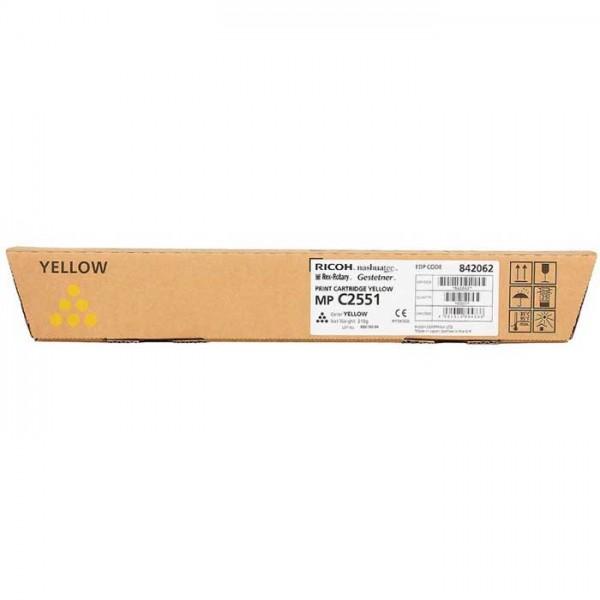 Original Ricoh MP C2551 Toner 842062 yellow - reduziert