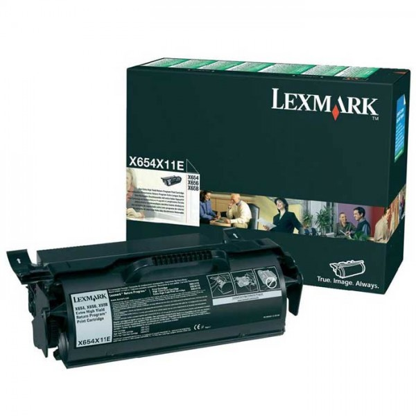 Lexmark Toner X654X11E black - reduziert