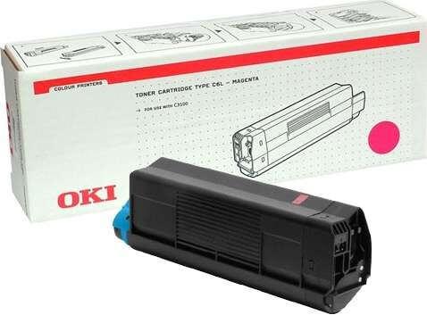 Original OKI Type C6L Toner 42804514 magenta - reduziert
