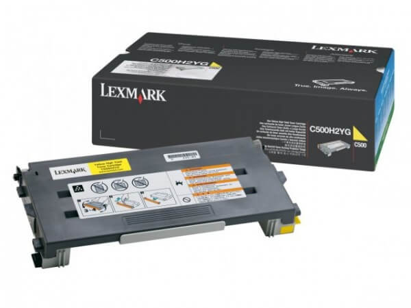 Original Lexmark Toner C500H2YG yellow - Neu & OVP