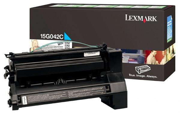 Original Lexmark Toner 15G042C cyan - Neu & OVP