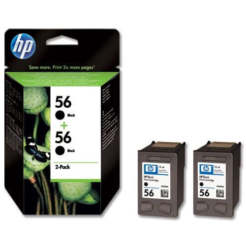 Original HP Tinte 56 Doppelpack C9502AE black - C-Ware
