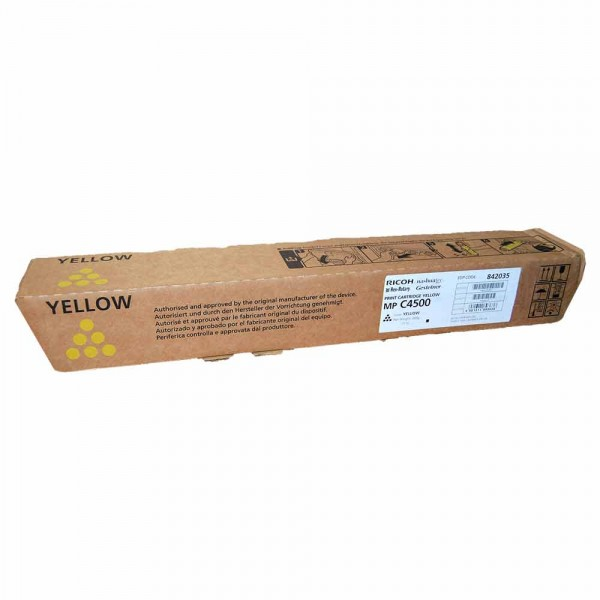 Original Ricoh MP C4500 Toner 884931 yellow - Neu & OVP