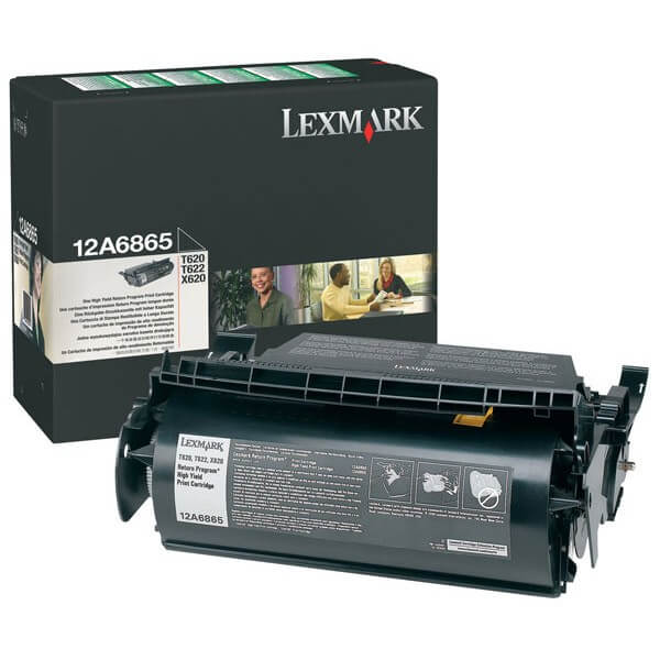 Original Lexmark Toner 12A6865 black - reduziert