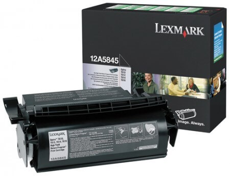 Original Lexmark Toner 12A5845 black - C-Ware