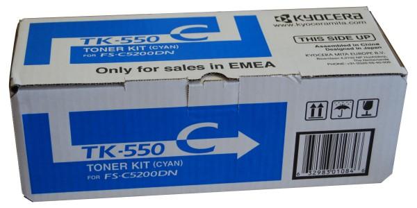 Original Kyocera Toner TK-550C cyan - Neu & OVP