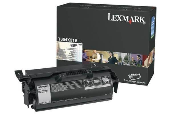Lexmark Toner T654X31E black - reduziert