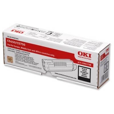 OKI Toner 43865708 black - reduziert