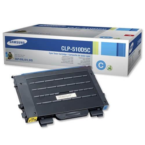 Original Samsung CLP Toner CLP-510D5C cyan - Neu & OVP