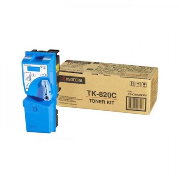 Original Kyocera Toner TK-820C cyan - reduziert
