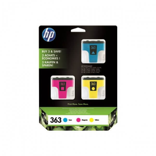 Original HP Nr. 363 Tinten Pack CB333EE 3-Farbig - Neu & OVP