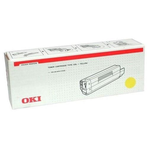 Original OKI Type C6L Toner 42804513 yellow - reduziert