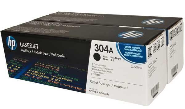 HP Toner Doppelpack CC530AD black - reduziert