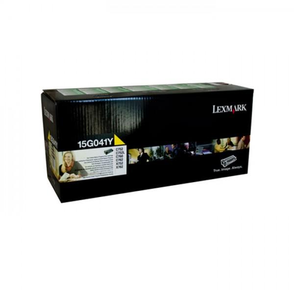Lexmark Toner 15G041Y yellow - reduziert