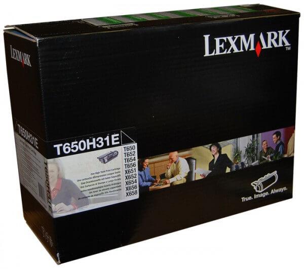 Original Lexmark Toner T650H31E black - Neu & OVP