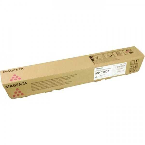 Original Ricoh MP C3502 Toner 841653 magenta- reduziert
