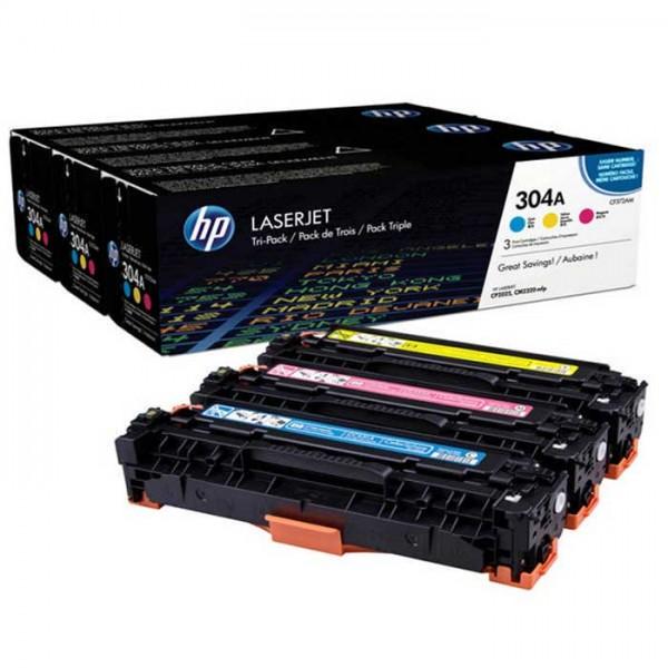Original HP Laserjet Toner CF372AM Dreierpack cyan/yellow/magenta - Neu & OVP